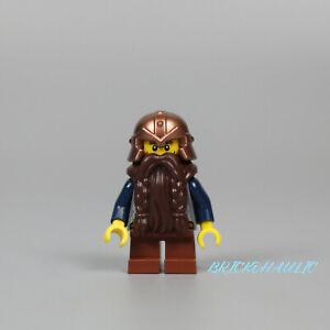 Lego Dwarf 7036 Sand Blue Arms Dark Brown Beard Fantasy Era Castle Minifigure