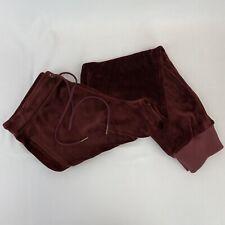 NWT $99 Sanctuary Womens Track Suit Pants Burgundy Size L