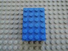 LEGO 1 X PIETRA PIASTRA elevata 2356 BLU 4x6 6455 6330 10030