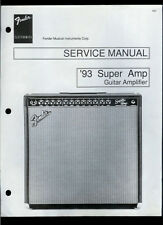Nice Copy Fender '93 Super Amp Guitar Amplifier Parts List & Schematic(s)