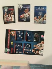 4 Different Minnesota Lynx Schedules From 2011-2013 Maya Moore,Augustus, Whalen