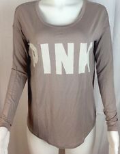 VICTORIA'S SECRET PINK  GRAPHIC SHIRT LONG SLEEVE SIZE XSMALL NEW  D31