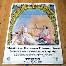 MOSTRA DEL BAROCCO PIEMONTESE poster manifesto affiche Arte Torino Stupinigi