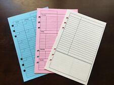 WEEKLY MONTHLY NOTES Undated Refill for A5 6-Ring Planner Organizer Inserts