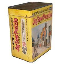 "Vtg Deluxe Guild Jigsaw Puzzle Whitman Publishing 340 Pcs Boxed Tin 18"" X 15 1/2"