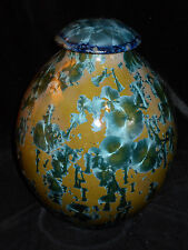 Paul Brown Porcelain Pottery, Crystalline Glaze, Hand Thrown JAR  Fine Art