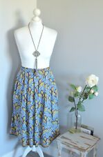 0b1fc7cffb4 ZARA Vibrant tropical floral high waisted flared midi skirt MEDIUM 10