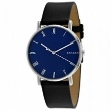 Skagen Signatur Black Leather 40mm Men's Watch SKW6434 BRAND NEW!! USA SELLER!