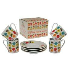 Floral Coffee Cup and Saucer Sets
