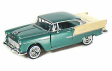 1955 Chevrolet Bel Air Hard Top Green Diecast Model Car 1:24 Motor Max #73229