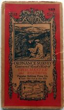 Ordnance Survey MAP Popular Series CHICHESTER & WORTHING 1933 sheet:133