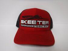 New Authentic Skeeter Richardson Trucker Hat  Red/Black Mesh  32872