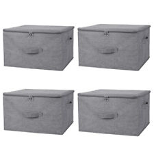 1/2/4 Pack Storage Bin Boxes Linen Fabric Cube Basket Foldable Home Organizers