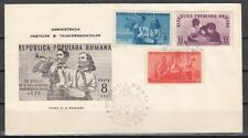 Romania, Scott cat. 745-747. 1st Anniversary of Pioneers. First day cover.