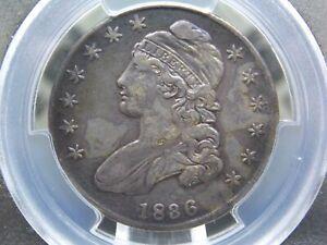 "1836 Capped Bust Silver Half Dollar 50c ""Lettered Edge"" PCGS XF Details ECC&C"