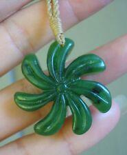 Top grade Canadian Jade Carved Hawaiian Plumeria Flower Pendant