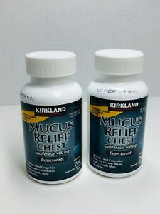 Kirkland Mucus Relief Chest Guaifenesin 400mg Expectorant 400 Tablets 11/2023