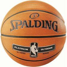 Spalding NBA Platinum All Surface Basketball Durable Rubber Outdoor Ball Size 7