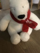 Coca Cola Polar Bear Plush With Red Scarf Year 2007 Pre Own