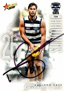 ✺Signed✺ 2019 GEELONG CATS AFL Card TOM HAWKINS