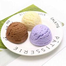 3PCS Artificial Fake Ice Cream Ball Chocolate Food Dessert Shop Photograph decor