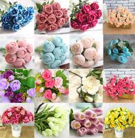 Artificial Fake Roses/Daisy Silk Flower Wedding Party Bridal Bouquet Home Decor