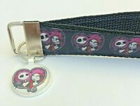 Key Fob Chain Holder Wrist Lanyard Strap Jack Sally Nightmare Before Christmas