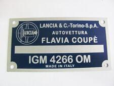 TARGHETTA IDENTIFICATIVA DATI LANCIA FLAVIA COUPE' 1800 INIEZIONE ('65-'68)