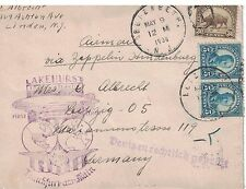Scott 557 & 569 - On Zeppelin Hindenburg New Jersey To Germany Cover  #02  557