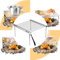 1Set Folding Portable Camping Grill Barbecue Stainless Steel BBQ Grill /
