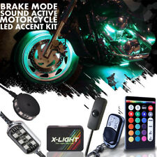 16pc Harley Street Glide Motorcycle LED Accent Glow Kit w Brake Light Function