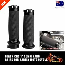 Aluminum 25mm Black Handlebar Bar End Handle Hand Grips For Harley chopper Bike