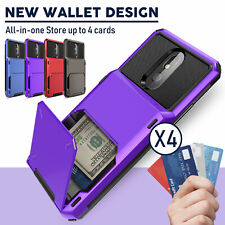 For Lg K51/Stylo 6/5+ Plus Phone Case Hybrid Card Wallet Holder Slot Hard Cover