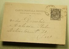 DR WHO 1892 ROMANIA BUCHAREST LETTER CARD STATIONERY C187483