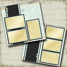 Enduring Love - 2 Premade Scrapbook Pages - EZ Layout 4512