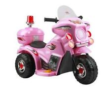 Kids Girls Play Toy Ride-on Electric 6V Battery Police Motorbike Car 3 Wheels