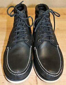 Boots Bottines lacets TIMBERLAND style bateau cuir noir 12M US 11,5UK 46,5 EUR