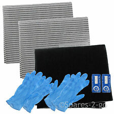 Cooker Hood Filter Kit for BEKO Extractor Kitchen Fan Vent Grease Carbon Filters