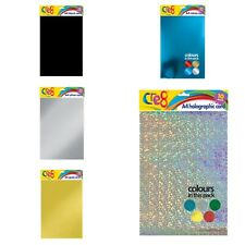 20 SHEETS BLAST SILVER RAINBOW HOLOGRAPHIC A4 CRAFTING CARD 290 GSM