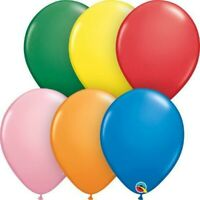 "LATEX 16""(40CM) STANDARD ASSORTED PACK OF 50 QUALATEX BALLOONS PARTY SUPPLIES"