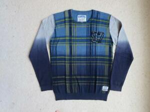 NWOT Vingino Machello Nova Check Boy's Pullover Sweater Sz 12 / 14 New