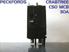Crabtree C-50 M3 DP/SP&N 30A MCB Circuit Breaker Double 2 Pole