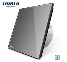 EDEL Touchscreen Dimmer LED Livolo Silber Kristall Glas VL-C701D-15