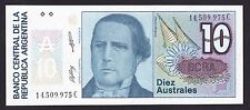 Argentina 10 Australes 1985-89  UNC  P. 325,  Banknotes, Uncirculated