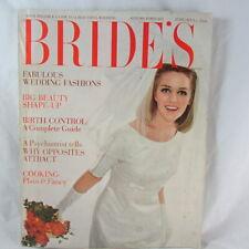 1965 Bride's Magazine Autumn Preview Wedding Fashion Beauty Home Decor Ads
