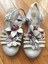Primigi Leather Sandals Floral Size EU 32 US 1