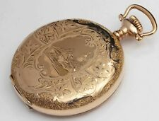 1908 WALTHAM Ornate Antique 16 Size Pocket Watch - EXCEPTIONAL CONDITION