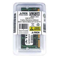 2GB SODIMM Fujitsu-Siemens Lifebook S6311 S6410 S6510 S7110 S7111 Ram Memory