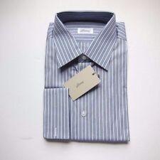 Camicie classiche da uomo blu a fantasia righe