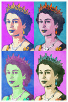 Queen Elizabeth II Bright Pop Art Print Poster 12x18 inch